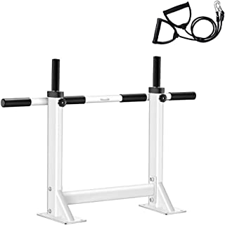 Amhuui Mur monté Pull up Bar, Chin Up Exercice Bar Gym Dip Station avec Une Corde de Fitness Paire pour Home Full Body Trainer