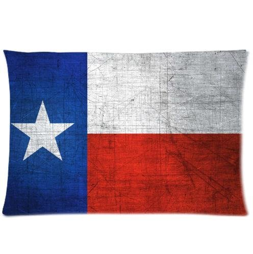 Hot Sale Texas State Flag Retro Style Pillowcase Zippered Soft Pillow Cover 20x30 inches (Twin Sides )