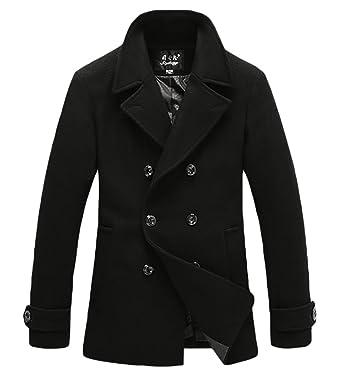 Manteau caban femme mi long a double boutonnage