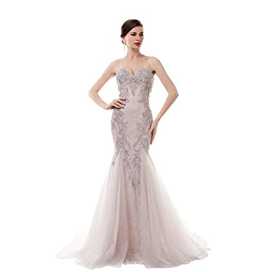 Amazon.com: MLT Women\'s Chiffon Straps Prom Dresses Evening Gowns ...