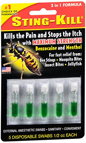 (Special pack of 6 STING KILL DISPOSABLE SWABS 5 per pack)