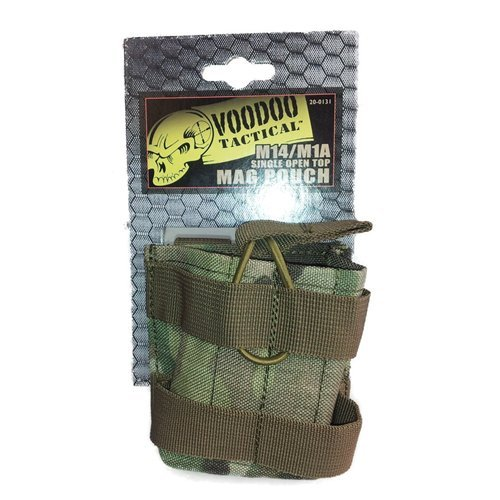 VooDoo Tactical 20-0131082000 M14 Single Open Top Mag Pouch, Multicam