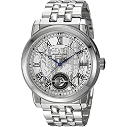 Gevril Men's 'Washington' Swiss Automatic Stainless Steel Casual Watch, Color:Silver-Toned (Model: 2620B)
