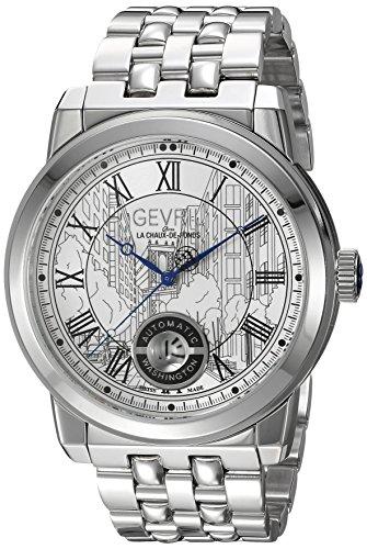 Gevril Washington Men's Swiss Automatic Stainless Steel Bracelet Watch, (Model: 2620B)