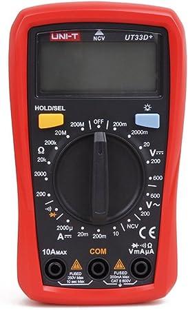 UNI-T UT204 Medidor Digital de Pinza Temperatura AC DC Voltaje de Corriente Probador de Resistencia Mult/ímetro