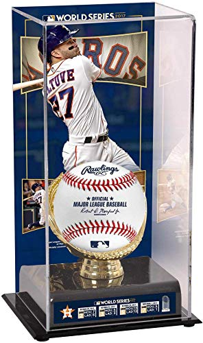 Sports Memorabilia Jose Altuve Houston Astros 2017 MLB World Series Champions Sublimated Display Case with Image - Fanatics Authentic ()