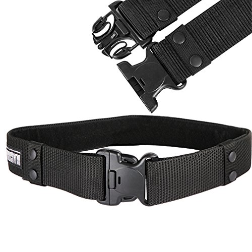 Nylon Canvas Tactical Pants - magpross Men's Military Tactical Web Nylon Canvas Webbing Buckle Belt- Black