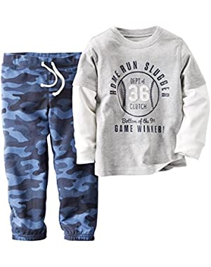 Carter's Baby Boys' Infant 2 Piece Long Sleeve Set