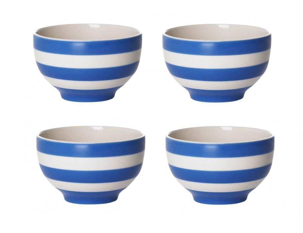 Cornishware Blue and White Stripe Set of 4 Rice Bowls