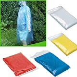 hiking water filter reviews ❤JPJ(TM)❤️_Home decoration 10Pcs New Creative Disposable Adult Emergency Waterproof Rain Coat Poncho Hiking Camping Hood (Random)