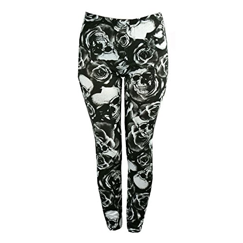 LEGG Pantaloncini Look SKULL Donna Girly ROSE Rw1qF5Y