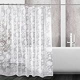 Kilokelvin Shower Curtain Mildew Resistant Waterproof Water-Repellent Antibacterial 12 Metal Rings, 72x72 Inches(PEVA Dandelion)