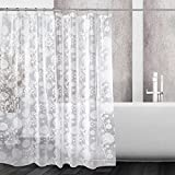 kilokelvin PEVA Shower Curtains with Dandelion Design 100% Waterproof & Eco-Friendly Large Size