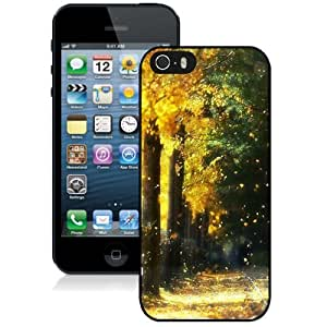Beautiful Custom Designed Cover Case For iPhone 5s With Fall Trees Phone Case