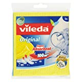 Vileda Super Absorbent Sponge Cloth, Pack of 12, Multi-Colour