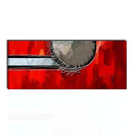 I Colori del Caribe Quadri Moderni Astratti Rosso con MATERICO ...