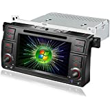 Amaseaudio Upgrade Windows CE 6.0 Car DVD Radio Multimedia Player In Dash 1 Din GPS Navi Head Units for BMW E46 M3(1998-2005) With Car Stereo Bluetooth