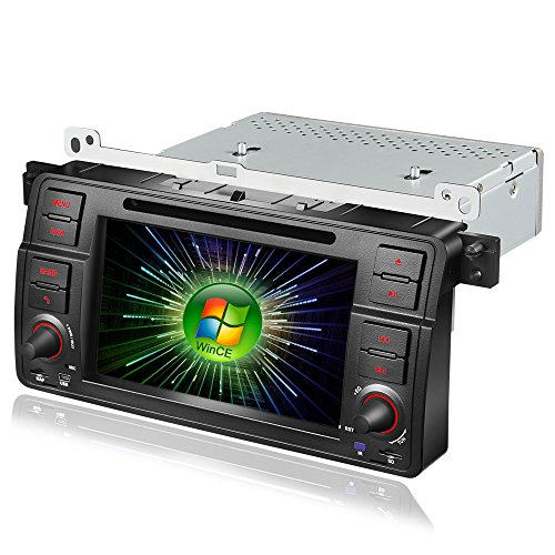 (Amaseaudio Upgrade Windows CE 6.0 Car DVD Radio Multimedia Player In Dash 1 Din GPS Navi Head Units for BMW E46 M3(1998-2005) With Car Stereo Bluetooth)