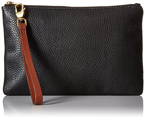 Fossil Women's Rfid Wristlet, Black, One Size by Fossil