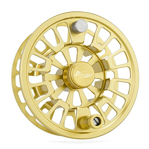 Piscifun Blaze Mid Arbor Fly Fishing Reel 3/4 wt Spare Spool Gold