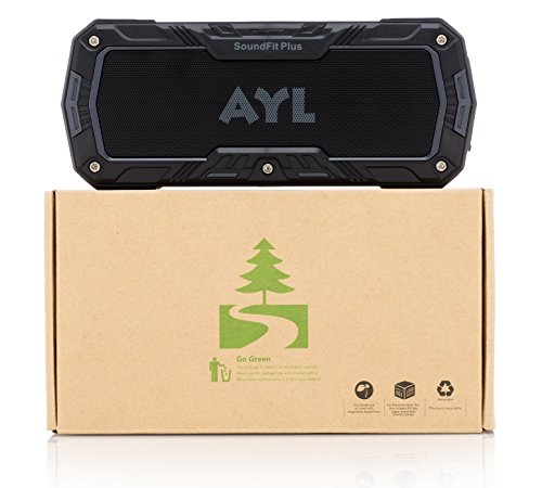 SoundFit Plus Water-Resistant Bluetooth Speaker - Portable Outdoor Wireless Sound System - Features Powerful Bass and Clear Treble - Hands-Free with Built-in Microphone - Dust and Shock Resistant by AYL (Image #8)