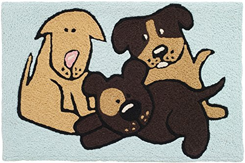 """ Buddies "" Dog Buddies area rug by Jellybean Rugs"