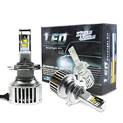 Evitek G6 LED Headlight Bulbs for Cars Motorcycles- Hi/Lo Beam H4 9003 HB2 - Plug n Play, 40W 4,500Lm 6500K Pure White OSRAM Chip LED Bulbs- 1 Year Warranty