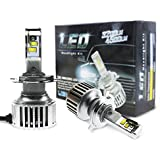 Evitek LED Headlight Bulbs - Hi/Lo H4 (9003) - Easy Installed, 40W 4,500Lm 6500K Pure White OSRAM LED Bulbs- 1 Year Warranty