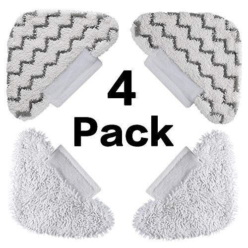FutureWay Steam Mop Triangle Replacement Pads for Shark Steam Pocket Mop S3601 Microfiber Cleaning Cloths Refills Accessories Lift-Away Steam Pocket Mop S3550 S3601CO S3455K S3901 3601 3 Pack