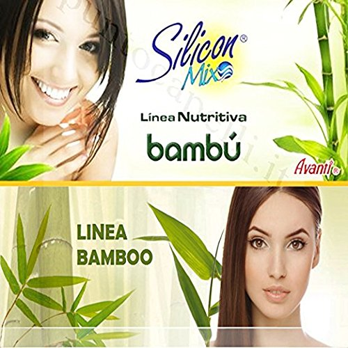 Amazon.com: Silicon Mix Bambu Set 4 pieces Shampoo, Tratament, Leave In, Hair Polisher: Beauty