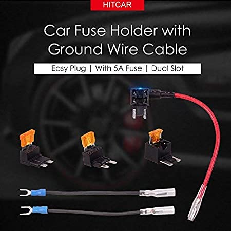 Car Vehicle Circuit Blade Style ATM ATT Low Profile Mini Fuse Holder Fuse Tap with 5AMP Fuse by HitCar EA-FEM Small Size
