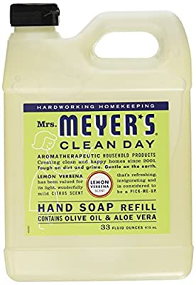Mrs. Meyers Liquid Hand Soap Refill Lemon Verbena 33 Ounces