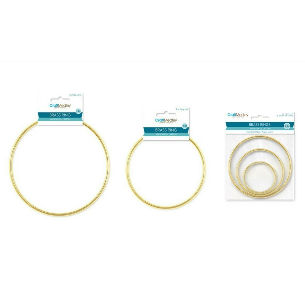 Craft Medley Assortment Round Brass Rings Ultimate Pack - 5 rings (2