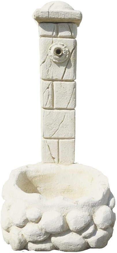 Fuente en piedra blanca Buda, 50 x 65 x 120 cm: Amazon.es: Jardín