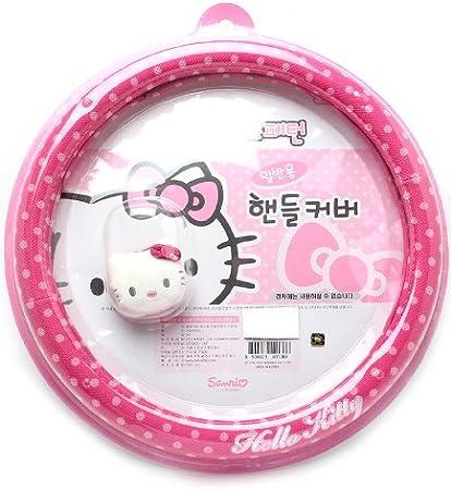 Hello Kitty rosa Funda para volante, diseño de lunares: Amazon.es ...