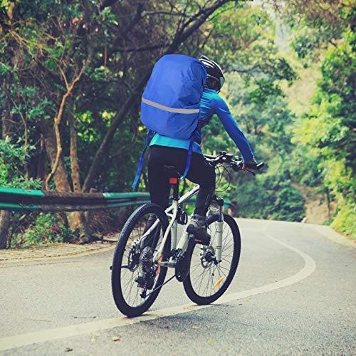 TAZEMAT Funda de Lluvia de Mochila Protector 3 Piezas Cubierta Impermeable para Mochila con Banda Reflectante Accesorio para Viaje Camping Senderismo Excursionismo Ciclismo S M L Amarillo Azul Negro