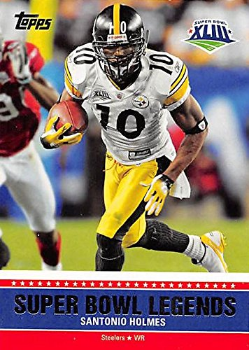 Santonio Holmes Football Card (Pittsburgh Steelers) 2011 Topps - Super Bowl Legends 2011