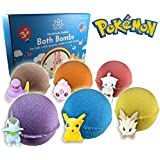 Bath Bombs For Kids with POKEMON TOYS INSIDE / Kids Bath Bombs with Surprises - Bath Bomb Kit for Girls & Boys - Multicolored Bubble Bath Bombs - Natural, Safe and Moisturizing - Organic Gift Set