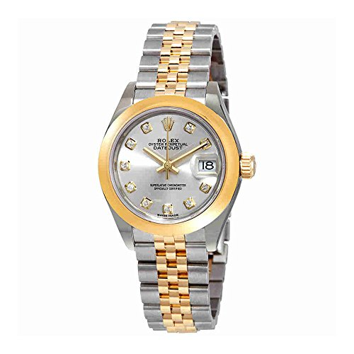 Rolex Lady Datejust 28 Silver Dial Steel and 18K Yellow Gold Jubilee Watch 279163SDJ