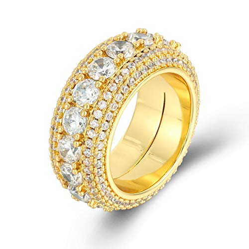PY Bling CZ Rotatable Ring-Dual Layer Iced Out Spinner Eternity Tennis Ring-Love Gift for Women Men (9)