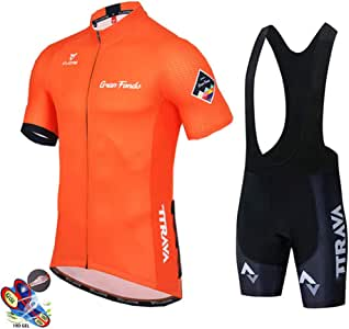 Fietsshirt Set Heren, MTB Wielerkleding Suits Sneldrogend Fiets Ademend Wielersport Sportkleding Korte Mouw Fiets Uniform (Color : B, Size : L)