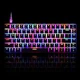 Ajazz Firstblood Geek RGB Mechanical Gaming Keyboard, Black Switches 82 Keys Layout Backlit AK33