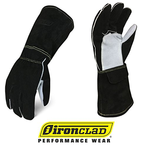 IRONCLAD Welding Leather Gloves MIG TIG STICK GRAIN, Palm Reinforcements, Fleece or Cotton Lining, Foam Insulation, Multi Options Cow, Elkskin, Buffalo, Sized S/M/L/XL, Machine Washable, Great Fit