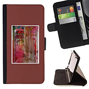 For LG Nexus 5 D820 D821 Case , Acuarela minimalista del cartel- la tarjeta de Crédito Slots PU Funda de cuero Monedero caso cubierta de piel