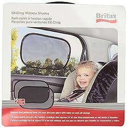 Britax 2 Pack EZ-Cling Sun Shades, Black (8 Shades) from Britax