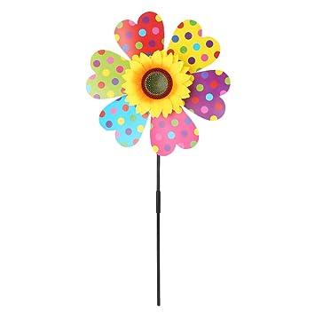 Amazon ea stone flower with bee windmillspinning windmill for ea stone flower with bee windmillspinning windmill for childrens outdoor toys home windowsill workwithnaturefo