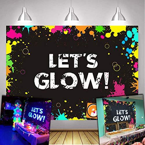 Daniu Glow Neon Party Backdrop Let