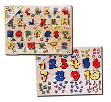 Puzzle Alphabet Ou Chiffres De Wood N Play
