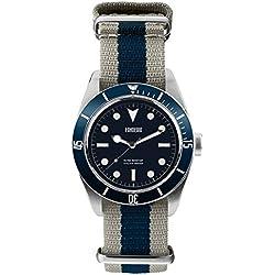 Men's Italian Designed Novecento by Fonderia with Navy Blue Dial Quartz Watch P- 8A002UBB