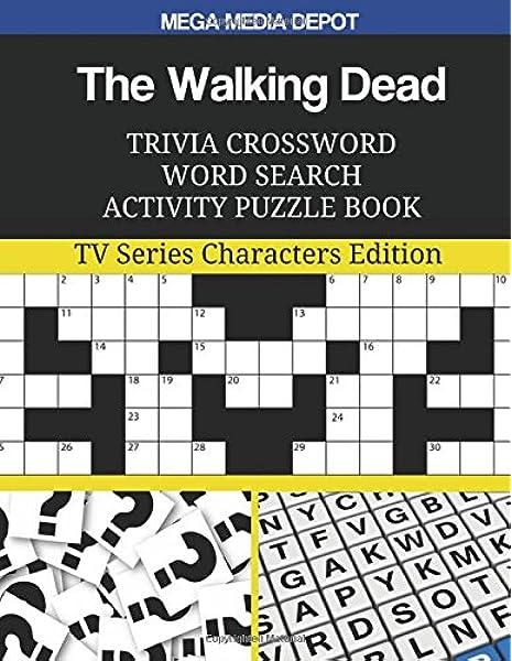 Amazon Com The Walking Dead Trivia Crossword Word Search Activity